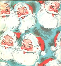 vintage christmas wrapping paper - I can remember opening presents with paper just like this - Dee