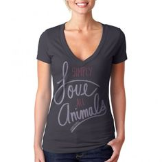 "Beautiful tee with a beautiful message - ""Simply Love All Animals"" from Hendrick Boards with each purchase sparking a ten dollar donation to your local animal shelter, rescue or sanctuary =^..^= https://www.facebook.com/photo.php?fbid=516664151691283=a.248692471821787.73856.152992901391745=1"