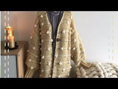 Vest Vera handmade by juf Sas met gratis haakpatroon Blazer, Crocheting, Sweaters, Jackets, Youtube, Fashion, Crochet Patterns, Crochet, Down Jackets