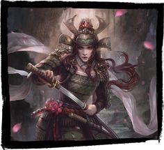 womens five ring Legend of the Five Rings: The Card Game Dark Fantasy Art, Fantasy Women, Fantasy Girl, Fantasy Images, Female Character Design, Character Art, Fantasy Samurai, Ronin Samurai, Samurai Artwork