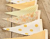 Morning Sun- Vintage Bunting Banner with 12 Flags