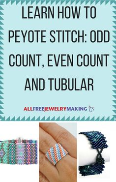 The peyote stitch technique consists of three subtypes of stitching: odd count, even count and tubular. Each of these stitches are totally different from one another, but you still come out with the same beautiful result in the end. After learning How to Peyote Stitch, there's no stopping you when it comes to combating a new jewelry design skill.