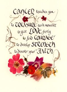 Cancer Teaches You www.judyorcutt.etsy.com