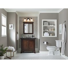 Photographic Gallery Shop allen roth Eastcott Auburn Undermount Single Sink Poplar Bathroom Vanity with Granite Top
