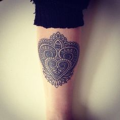 Heart Tattoo. Want a version of this; a combination of an anatomical heart with lace/mandala styling