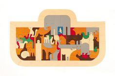 George Luck Wooden Ark / Noah's Ark Jigsaw Puzzle