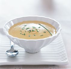 Cream of Cauliflower Soup with Saffron recipe courtesy of Gordon Ramsay, this stuff is great!