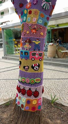 .Yarn bombing - all dolled up...