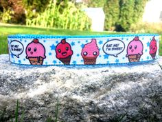 Ice Cream 1 Inch Width Dog Collar by WillyWoofs on Etsy, $17.00