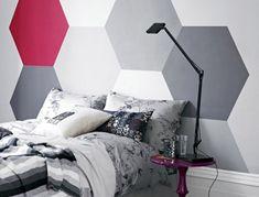 #PinturaGeometrica en el cabecero de cama