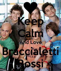 <3 Keep Calm and Love Braccialetti Rossi