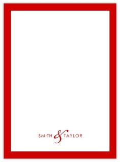 Border + Red - CardsDirect Personalized Notepads