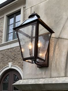 Classic Copper LanternSmall x x / Double Candelabra sockets / Raw Copper Copper Lantern, Wall Lantern, Exterior Light Fixtures, Exterior Lighting, Tower Light, Outdoor Wall Lighting, Foyer Lighting, House Lighting, Copper Wall
