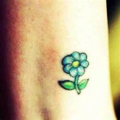 Image detail for -realistic small white daisy flower with green stalk tattoo on young ...
