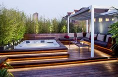 Backyard Deck Ideas with Hot Tub . Backyard Deck Ideas with Hot Tub . Outdoor Jacuzzi Ideas Designs Pros and Cons [a Plete Hot Tub Garden, Hot Tub Backyard, Backyard Patio, Terrace Garden, Backyard Landscaping, Backyard Ideas, Pergola Patio, Patio Ideas, Jacuzzi Outdoor