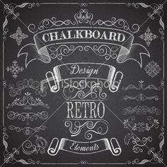 Chalkboard Elements Royalty Free Stock Vector Art Illustration