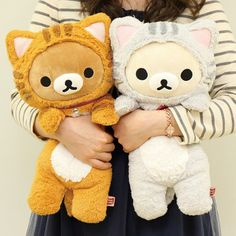 ❤ Blippo.com Kawaii Shop ❤ kawaii rilakumma bear plush in cat costumes | SO CUTE