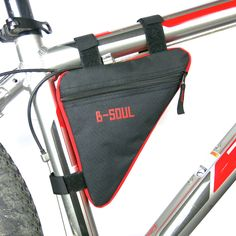 Bicycle Accessories New Roswheel Outdoor Cycling Mountain Bikes Bicycle Saddle Bag Front Tube Frame Pouch Package Black Red Blue