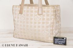 CHANEL Beige New Travel Line MM Tote Bag A15991