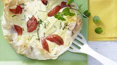 Rezept: Frischkäse-Tomaten-Tarte