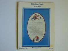 Why God made little boys Cross Stitch by TrinasCraftPatterns