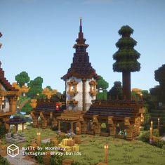 Minecraft School, Cute Minecraft Houses, Minecraft Room, Minecraft Plans, Minecraft House Designs, Minecraft Survival, Cool Minecraft, Minecraft Projects, Minecraft Buildings