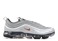 classic fit 2076a a6cef Nike AIR VAPORMAX 97 Nike AIR VAPORMAX 97 Men s Shoes Metallic Silver-Varsity  Red tips