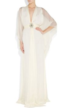 V-neck A-line with beading embellishment chiffon party dress
