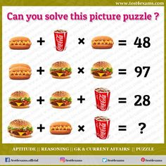 Can you solve this picture puzzle ? Get more brain teaser puzzle, number puzzle, alphabet puzzle and picture puzzle on Test 4 Exams. Brain Teasers Riddles, Brain Teasers With Answers, Brain Teaser Puzzles, Number Puzzles, Maths Puzzles, Mind Puzzles, Play Quiz, Picture Puzzles, Problem Solving Skills