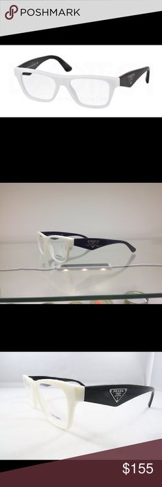 Pravda black and white eyeglasses vpr20q Luxury Pravda glasses size 52-16 7s3-101, temple size 140, luxury eyeglasses looks great very fashionable. Must have item Prada Accessories Glasses