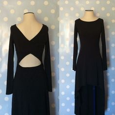 Black Long Sleeve Dress High low, worn twice, great condition. Dresses Long Sleeve