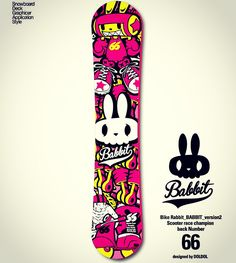 Bike rabbit 'babbit' Extreme brand character snowboard deck graphic design. Designed by DOLDOL.  #Snowboard #skateboard #sk8 #longboard #surf #babbit #bike #데크스티커 #mtb  #스노우보드 #롱보드 #character #characterdesign #스노우 #스노우보드스티커 #graffiti #sketch #돌돌디자인 #emblem #illustration #bi #snowboarding #캐릭터티셔츠 #토끼 #토끼캐릭터 #오토바이 #t #autobike #concept