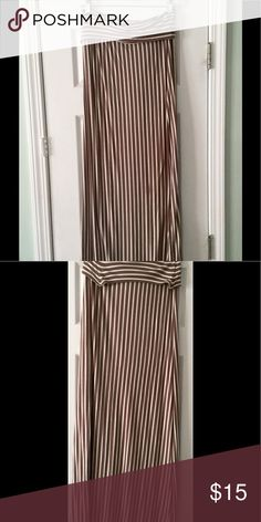 Awesome maxi skirt ! Barely worn/Like New! Awesome Creme/Brown stripped maxi skirt ! Perfect condition size large; WINDSOR Skirts Maxi