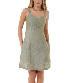 Look at this Swamp Lithe Linen Sundress on #zulily today!