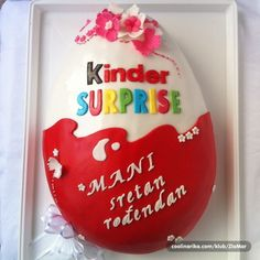 kinder surprise egg cake