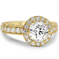 Luxe Halo with Scrollwork #BrilliantEarth