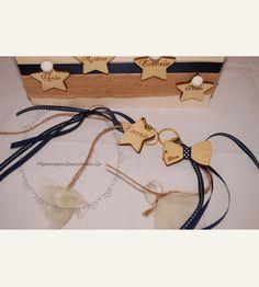 Κέρασμα γέννας κρεμαστό αστέρι & παπιγιόν με χάραξη Αγάπη Υγεία Ευτυχία
