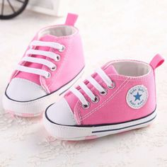 Beautiful Pink Sneakers for Baby Girls!! But I want a pair in purple too for my two beautiful princesses