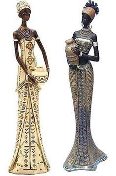 Post do dia: Decoração africana, parte 2: estatuetas.