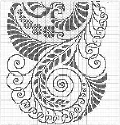 Cross Stitch Borders, Cross Stitch Flowers, Cross Stitch Patterns, Fillet Crochet, Bargello, Hand Embroidery Designs, Border Design, Needlepoint, Needlework