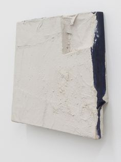 Lydia Gifford Hero 2012 Wood, canvas, oil paint, chalk, pigment, wall paint, 29 x 29 x 5.5 cm