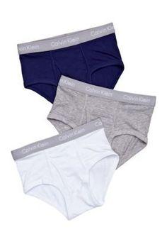 Calvin Klein  3-Pack Briefs Underwear Boys 4-20