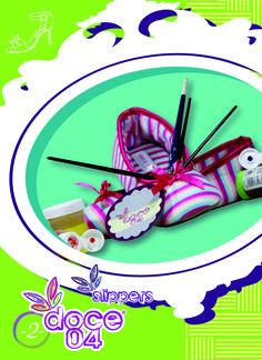 Zapatilla loungewear. Rayas pasteles #doce04