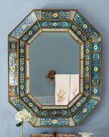 Peruvian glass mirror