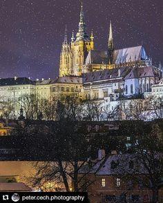 #Repost @peter.cech.photography in Prague  #52places #visitcz #praha #praha #praga #praguemorning  #praguestagram #praguecity #citylife #citylights #nighttime #snow #wintertime #architecture #art #nikon #nikonphotography #nikon_cz_sk #jsemnikon #d810