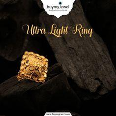 Elegant Pocket Friendly Ultra Light Rings, just for you❣ Gold Finger Rings, Mens Gold Rings, Mens Gold Jewelry, Gold Jewelry Simple, Gold Rings Jewelry, Womens Jewelry Rings, Gold Ring Designs, Gold Bangles Design, Gold Earrings Designs