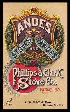 Phillips Clark Stove Company / Andes Stoves Ranges   Sheaff : ephemera -- booklet cover