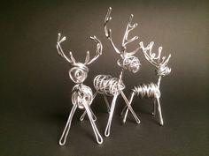 inspiration only...8 gauge aluminum wire reindeer...cute