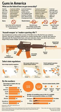 Guns in America: The federal laws on gun ownership #infographic