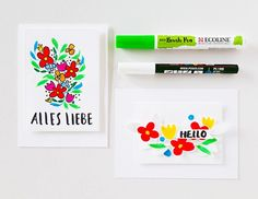 creating with janna- hand drawn greeting cards